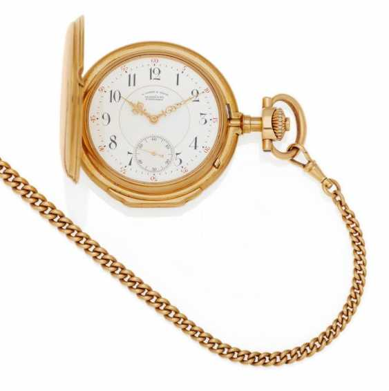 Pocket watch. Hand lift. 750/- rose gold - photo 1