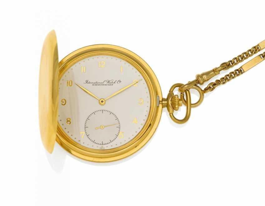 Pocket watch. Hand lift. 750/- yellow gold - photo 1