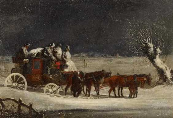 Two paintings: stagecoach in the summer. As well as stagecoach in Winter - photo 6