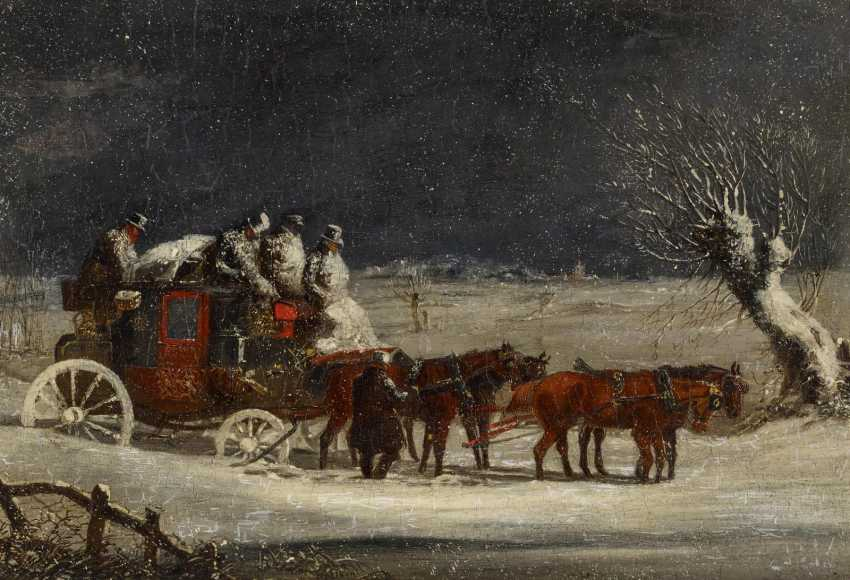 Two paintings: stagecoach in the summer. As well as stagecoach in Winter - photo 8