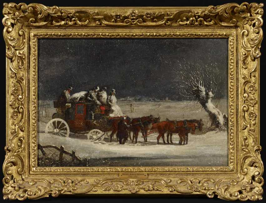 Two paintings: stagecoach in the summer. As well as stagecoach in Winter - photo 1