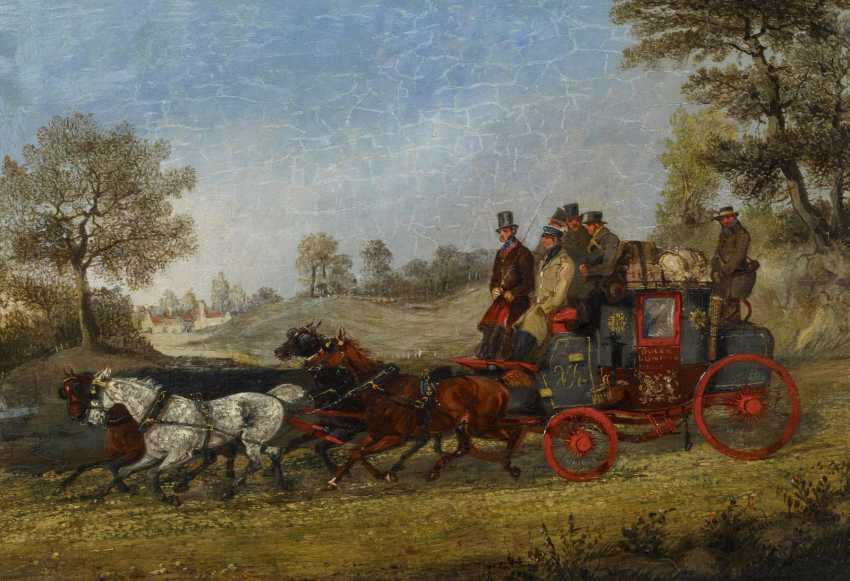 Two paintings: stagecoach in the summer. As well as stagecoach in Winter - photo 3