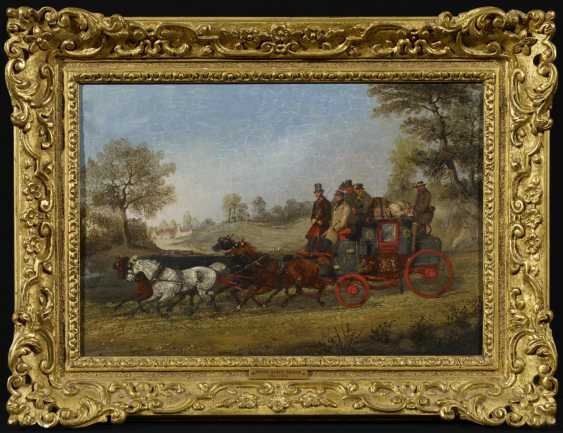Two paintings: stagecoach in the summer. As well as stagecoach in Winter - photo 4