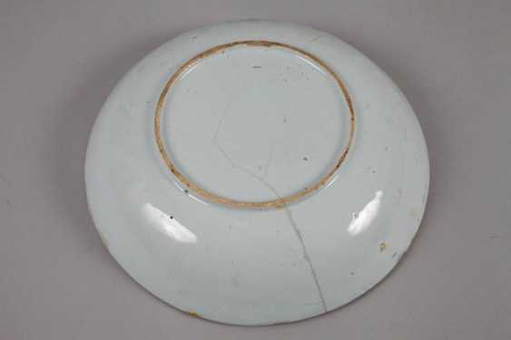 Plate and bowl in blue painting - photo 3