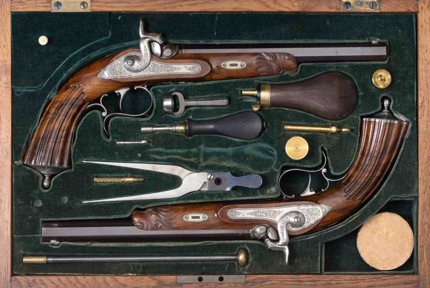 1 Pair Of Dueling Pistols - photo 1