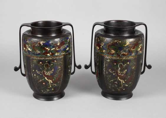 Pair Of Vases, Cloisonné - photo 1