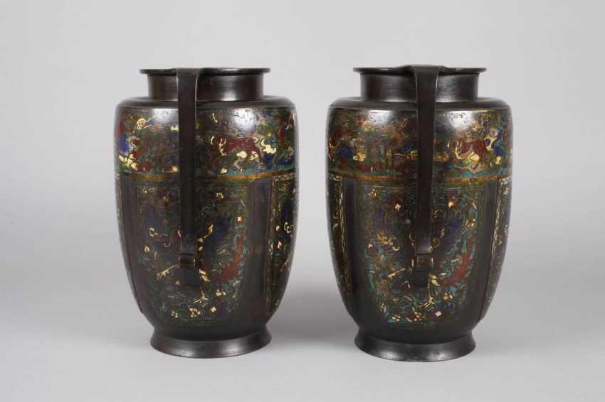 Pair Of Vases, Cloisonné - photo 2