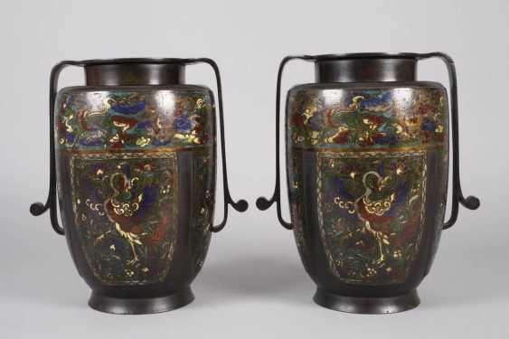 Pair Of Vases, Cloisonné - photo 3