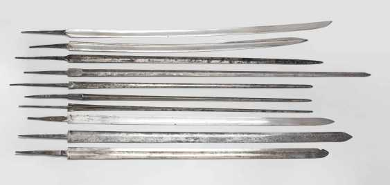 Collection of sword and dagger blades. - photo 2