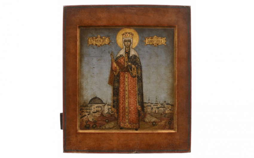Rare and beautiful icon of Saint Helena.... - photo 1