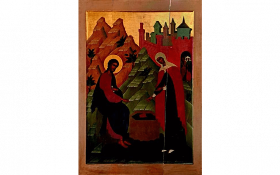 Important icon representing Jesus and the...