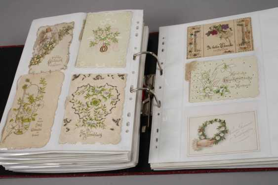 Collection of occasion cards, around 1900 - photo 4