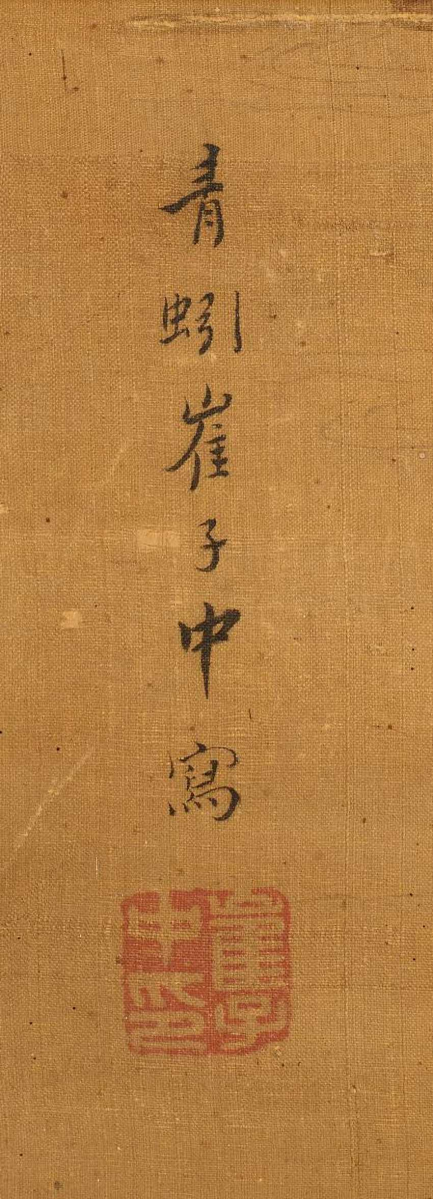 Cui Zizhong (1574 - 1644). Elegant lady in the company during a walk in the spring - photo 4