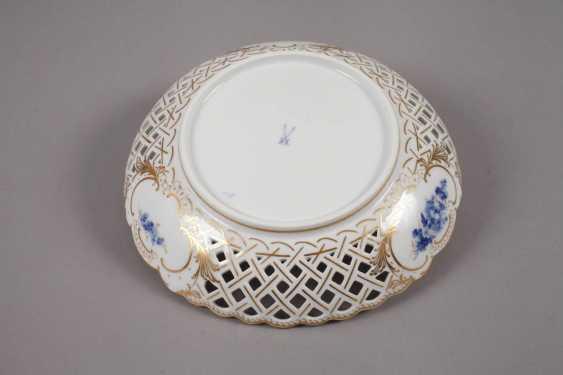 "Meissen braided edge bowl ""blue flower with gold grasses"" - photo 2"