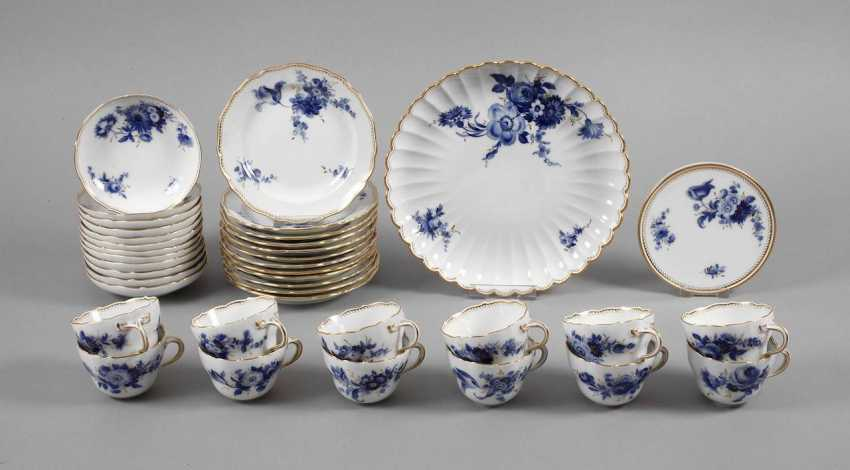 """Meissen coffee service """"blue flower with gold grasses"""" - photo 1"""