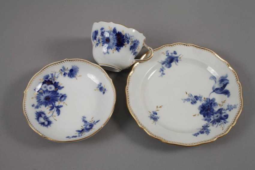 """Meissen coffee service """"blue flower with gold grasses"""" - photo 2"""
