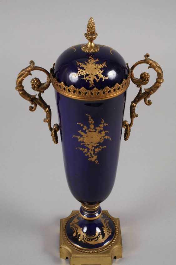 Sevres magnificent vase with bronze mount - photo 3