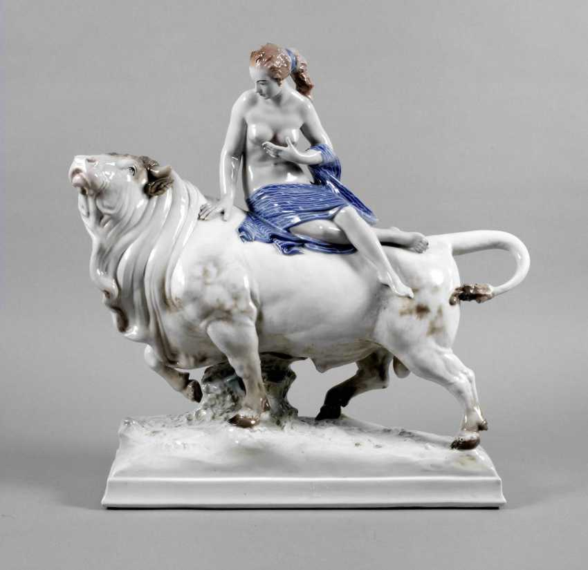Ens Volkstedt oversized figure of Europa on the bull - photo 1