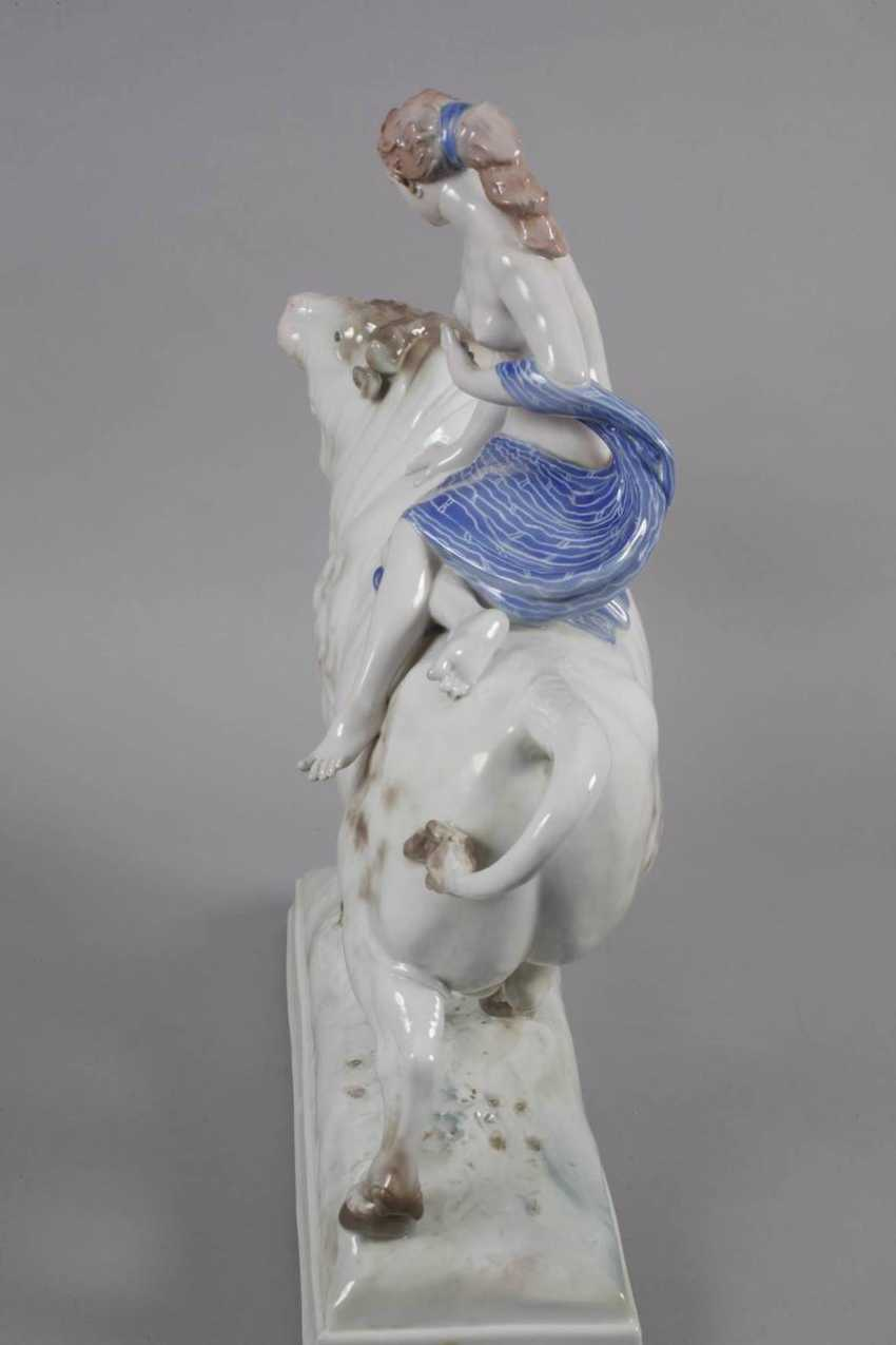 Ens Volkstedt oversized figure of Europa on the bull - photo 7