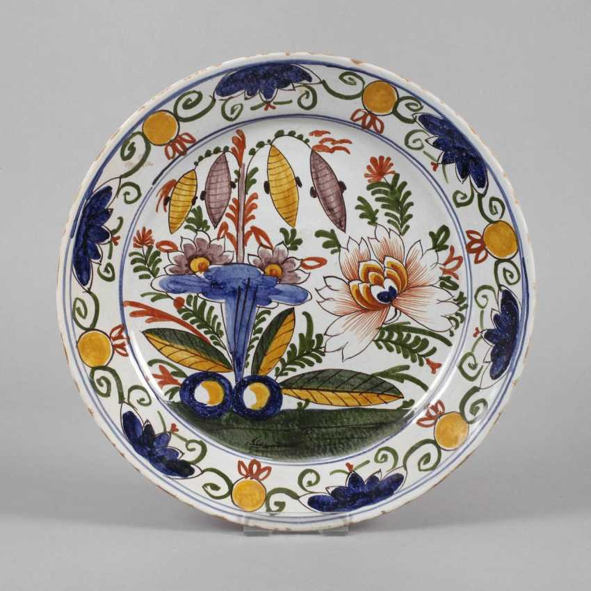 Large Faience Plate - photo 1