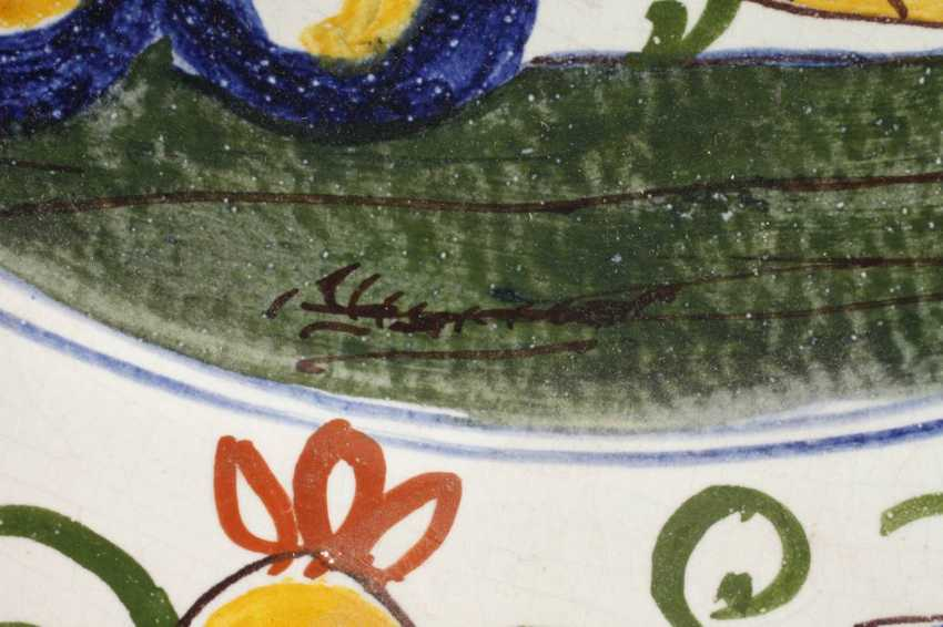 Large Faience Plate - photo 3