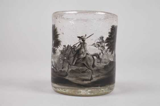 Wine glass with black painting - photo 4