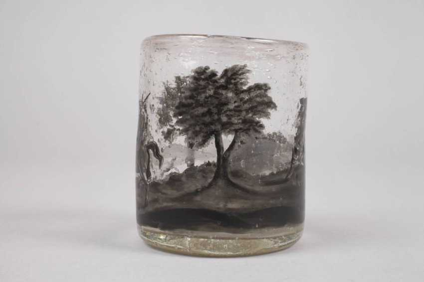 Wine glass with black painting - photo 5
