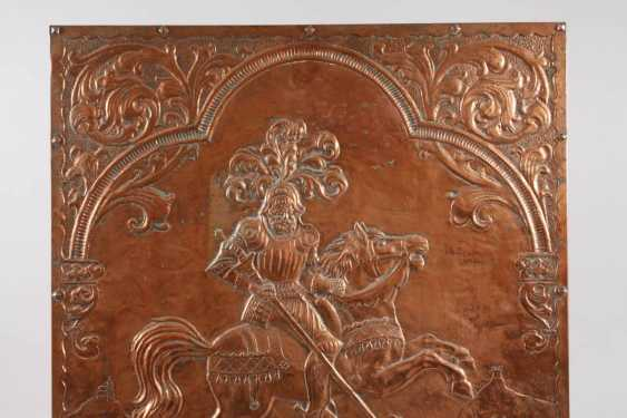 Large Copper Relief Of Saint George - photo 2