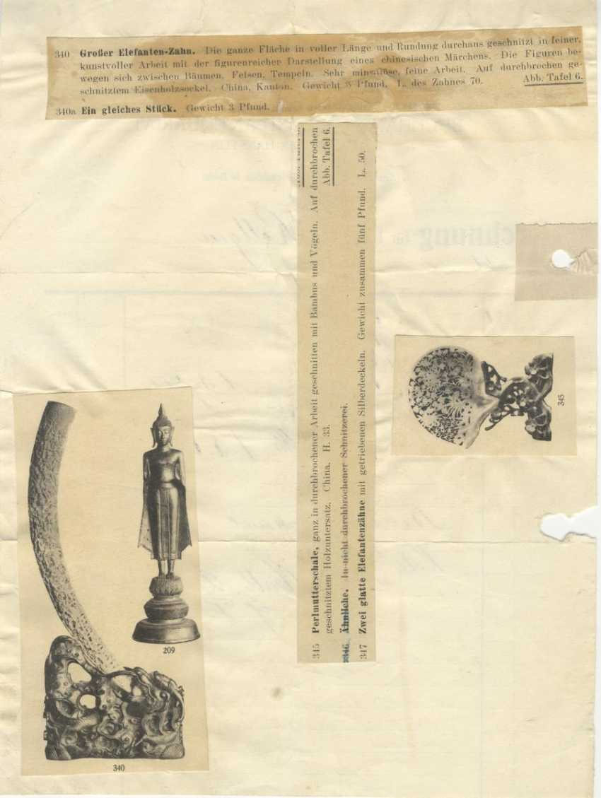 Impressive Pair of carved Elephant tusks - photo 3