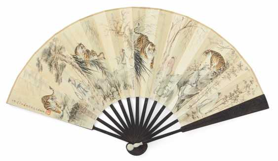 Fan painted with eight tigers and the Bagong - photo 2