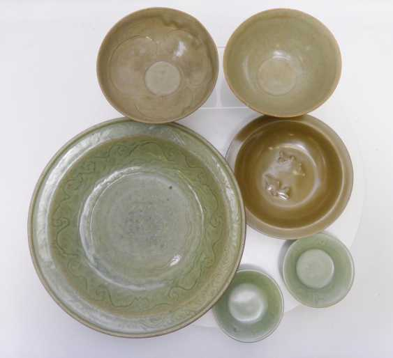 Six plates and bowls Longquan celadon - photo 2