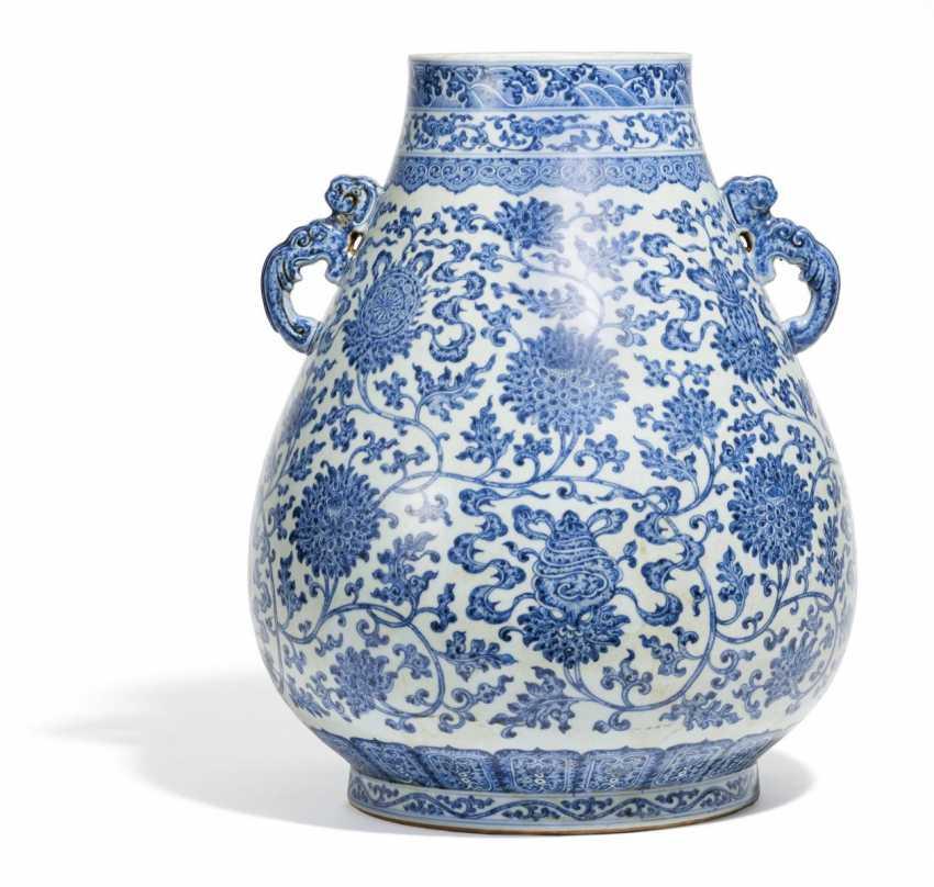 Large Hu Vase With The Eight Buddhist Treasures Lot 2066