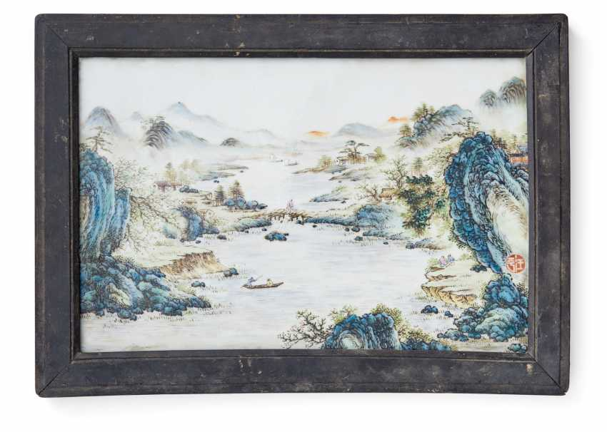 Porcelain plate with landscape - photo 1