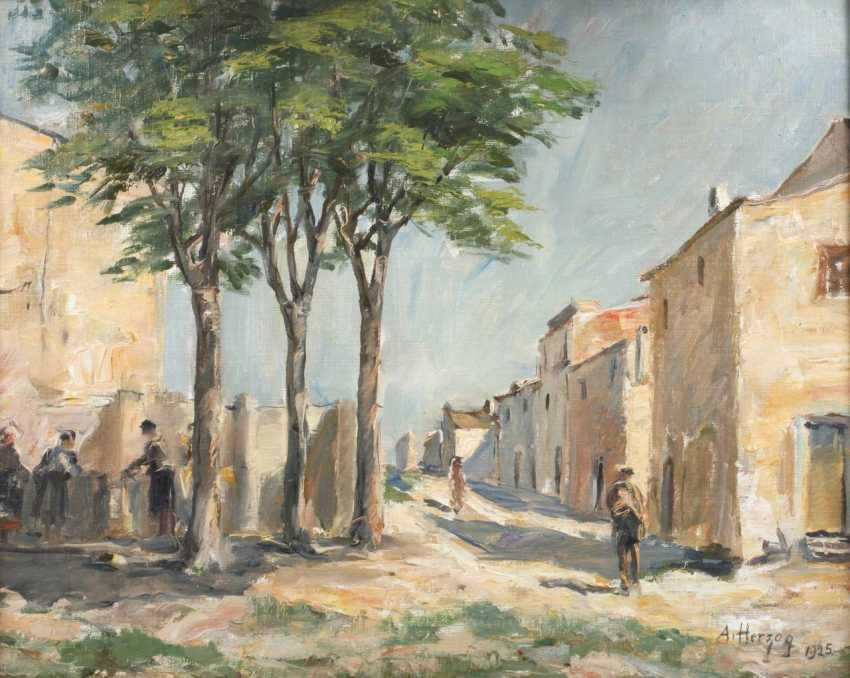 August Herzog, Mediterranean Street Scene - photo 1