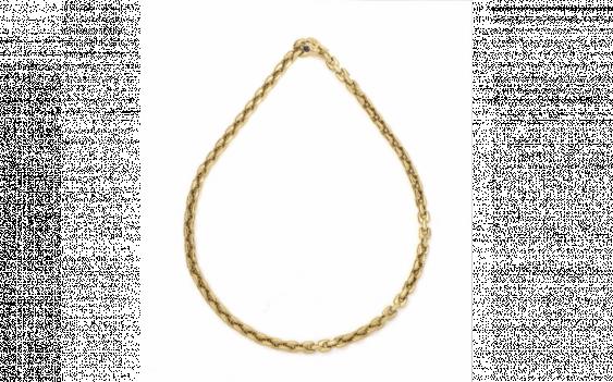 Watch chain gold 750 thousandths links,... - photo 1