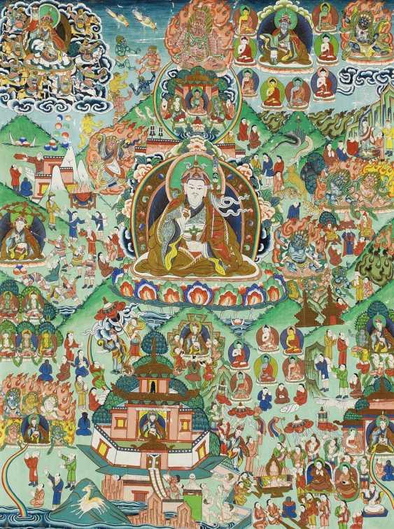 Significant and large Thangka of Padmasambhava - photo 1