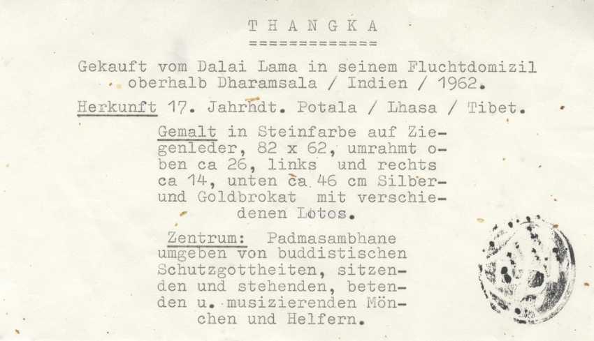 Significant and large Thangka of Padmasambhava - photo 2