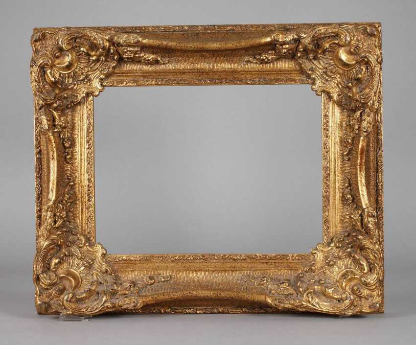 Gold stucco frame in a Baroque style, 20. Century - photo 1