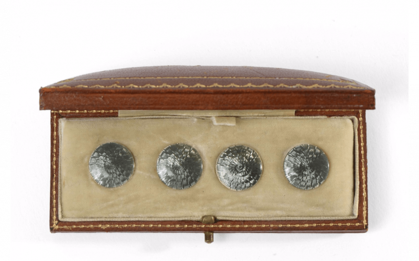 Stylish set of 4 buttons chest...