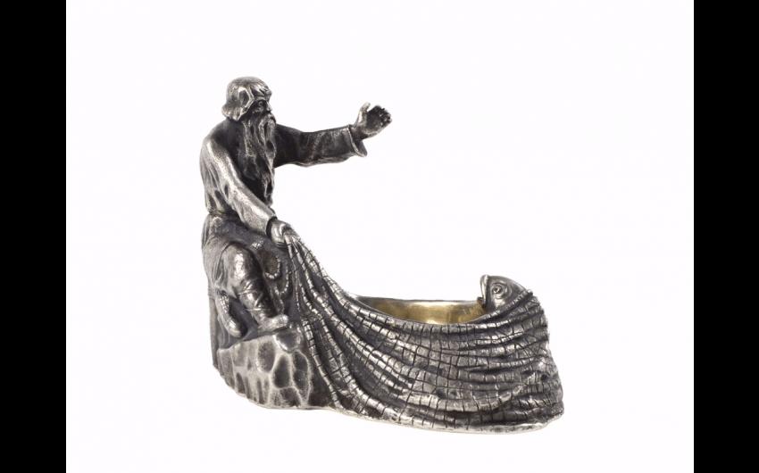 Beautiful saltcellar silver 84 zolotniks (875...