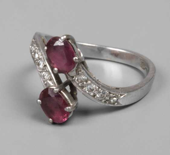 Ladies ring with rubies and diamonds - photo 1