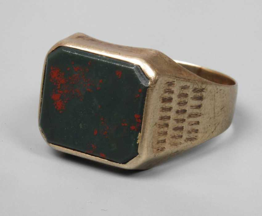 Men's ring with heliotrope - photo 1