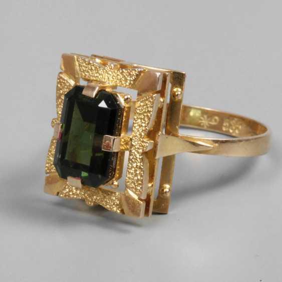 Ladies ring with tourmaline - photo 1