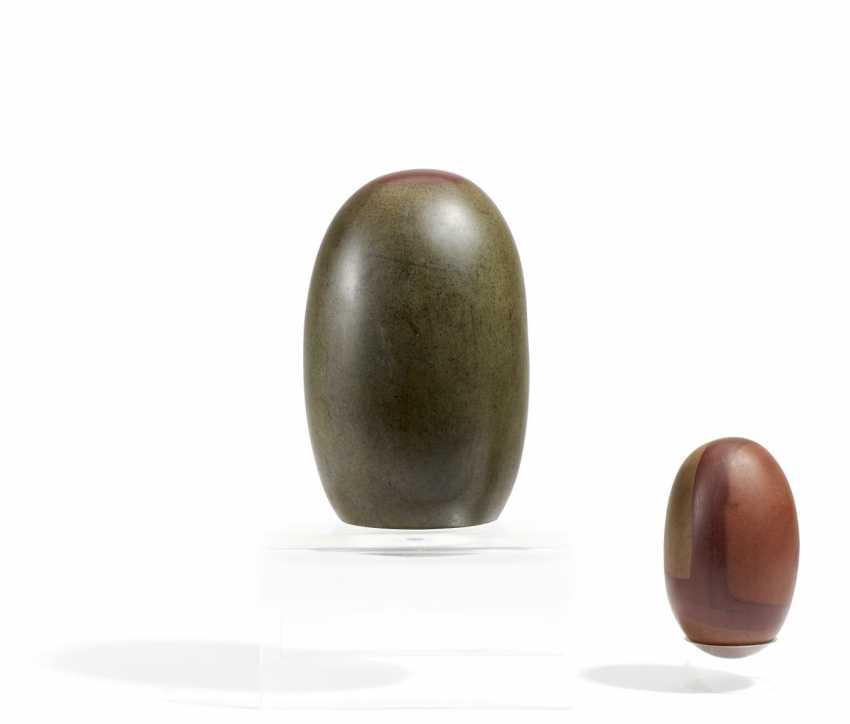 Large and small Shiva Lingam stone - photo 1