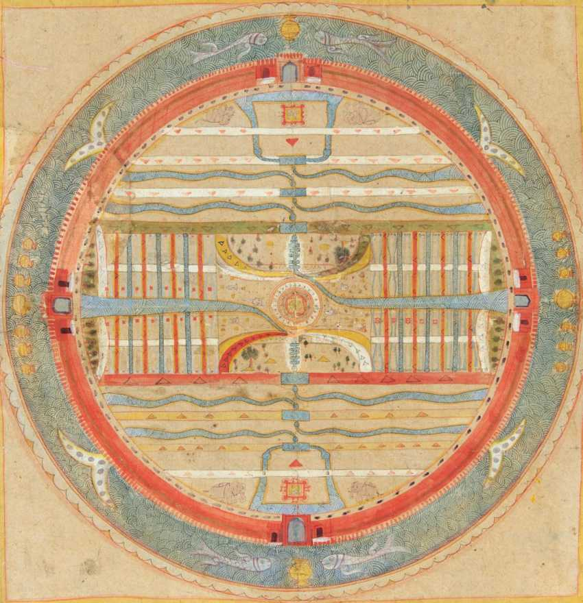 Cosmological Mandala of the rose-Apple tree continent, Jambudvipa - photo 1
