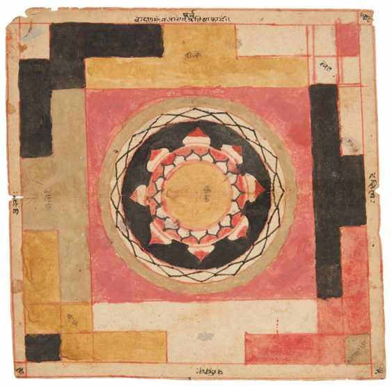 Tantric Painting. Yantra with Lotus - photo 1
