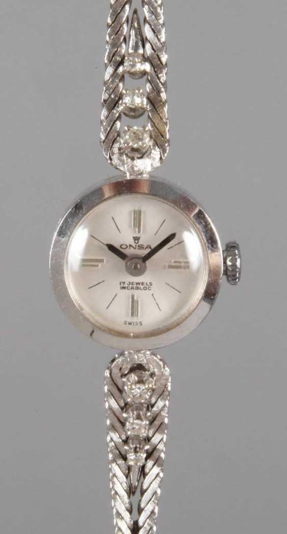 Ons ladies ' wristwatch with diamonds - photo 1
