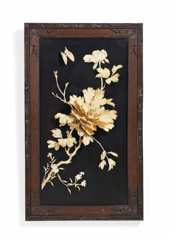Two Panels with flowers and birds - photo 3