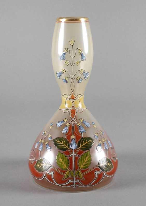 Art Nouveau style vase with enamel painting - photo 1