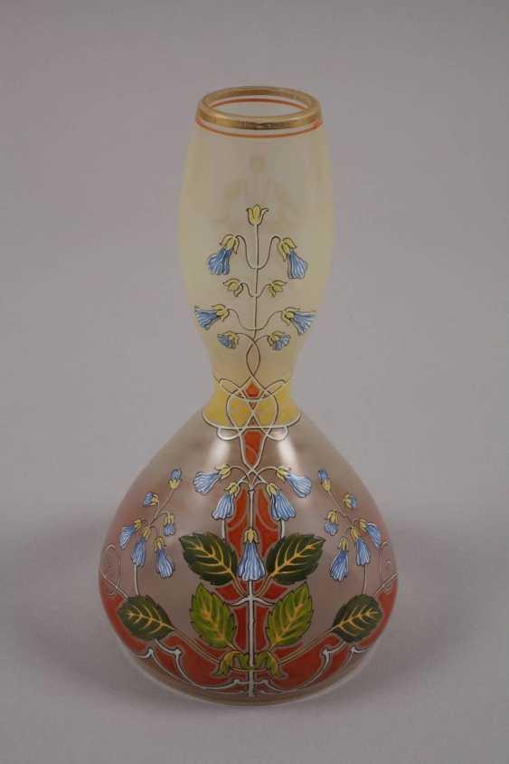 Art Nouveau style vase with enamel painting - photo 2